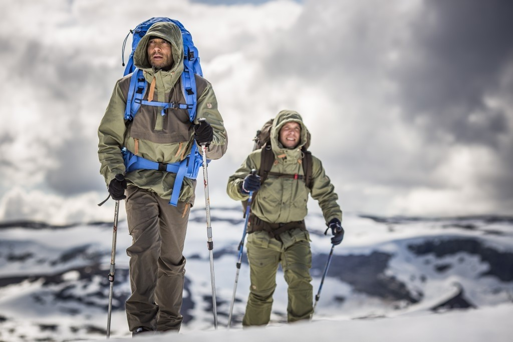 Fjallraven outer layer protection in early winter.