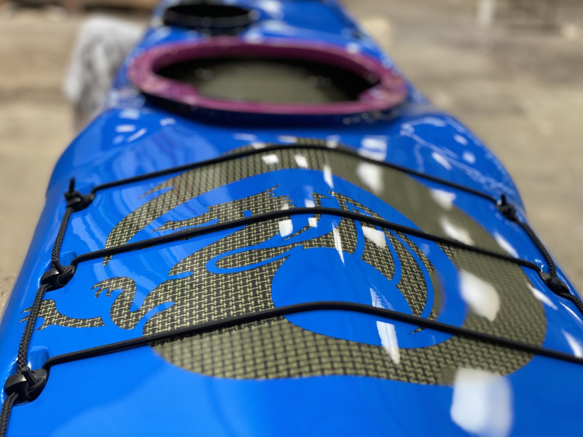 Romany Excel Expedition sea kayak Nigel Dennis blue on carbon composite