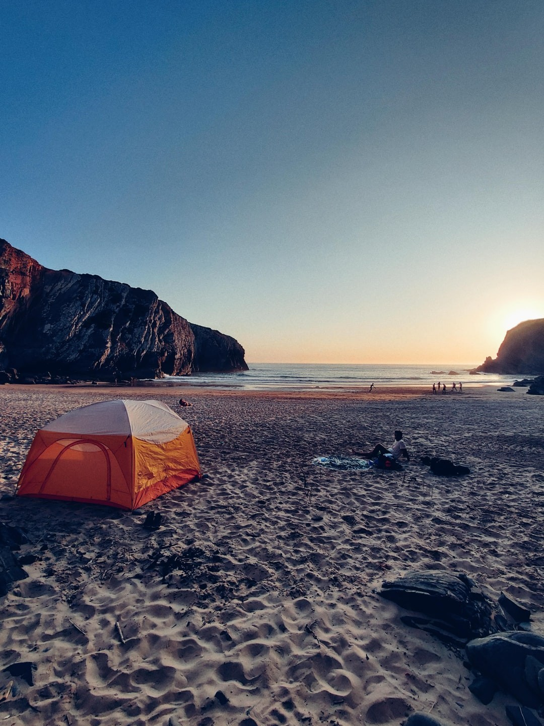 Wild camping beach sea kayaking trips