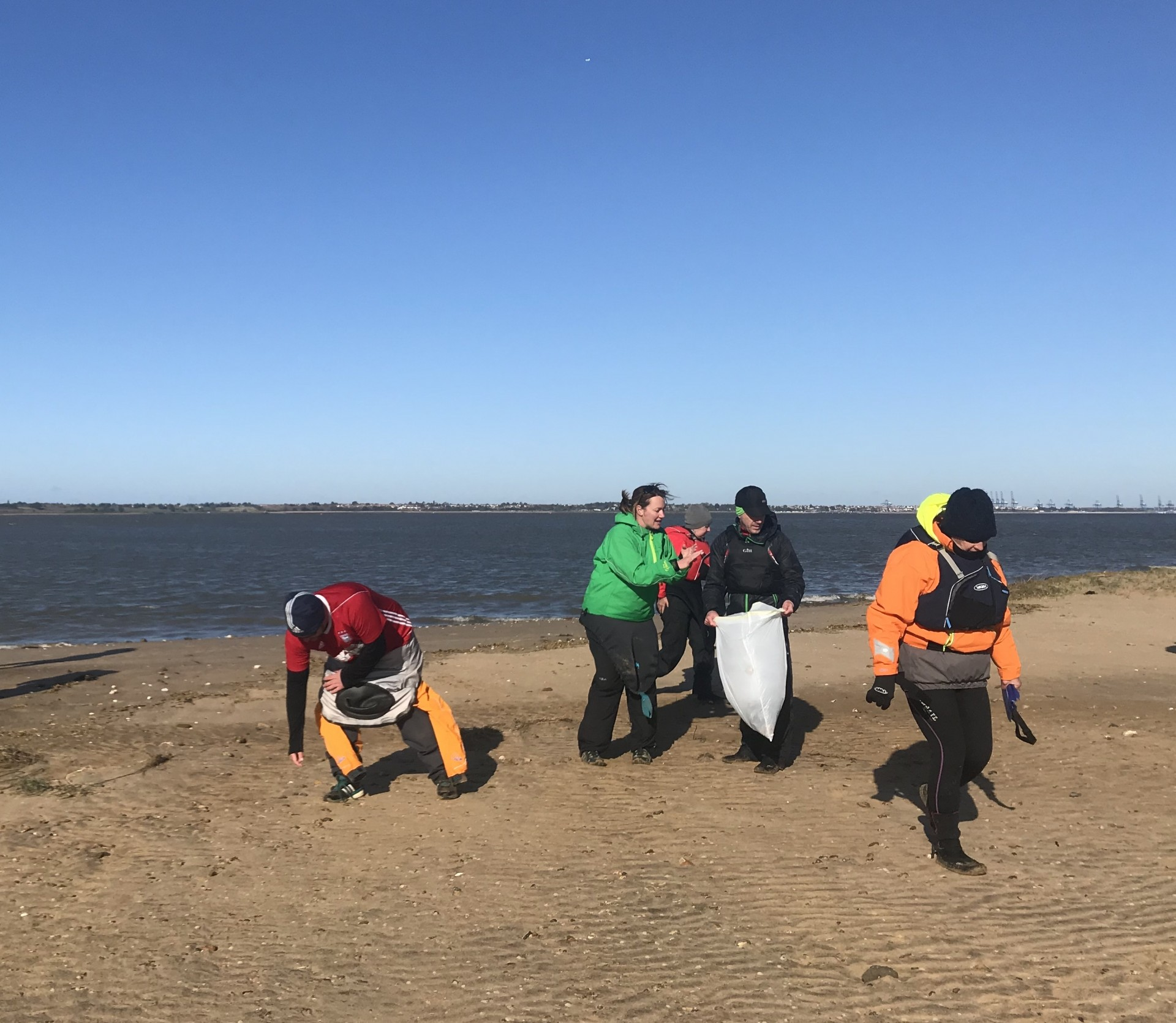 Beach cleaning at Stone Point, Seal Colony Eco Tour 2019.