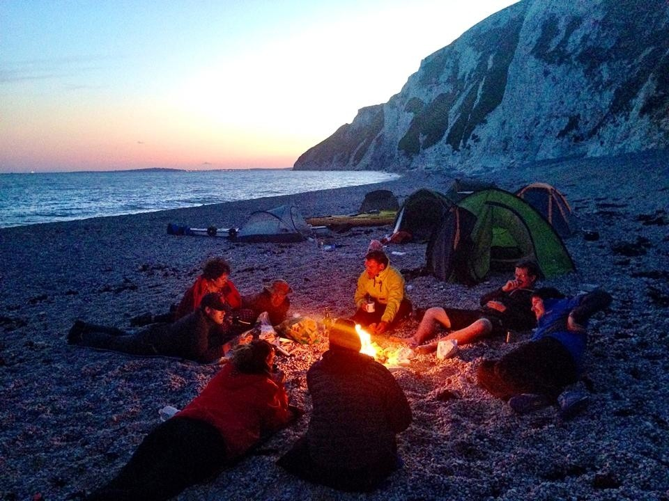 /storage/Wood fire beach wild camping Dorset Jurassic coast