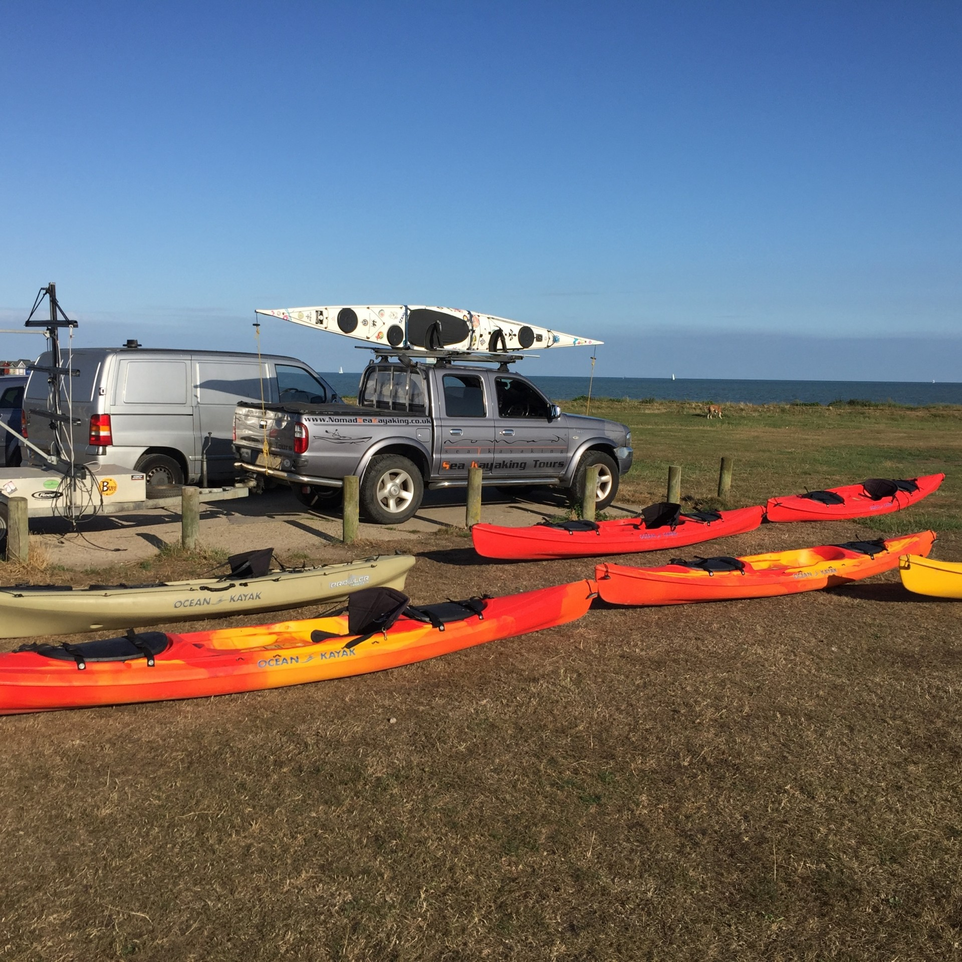 Leading groups sea kayaking - NOMAD Community Projects