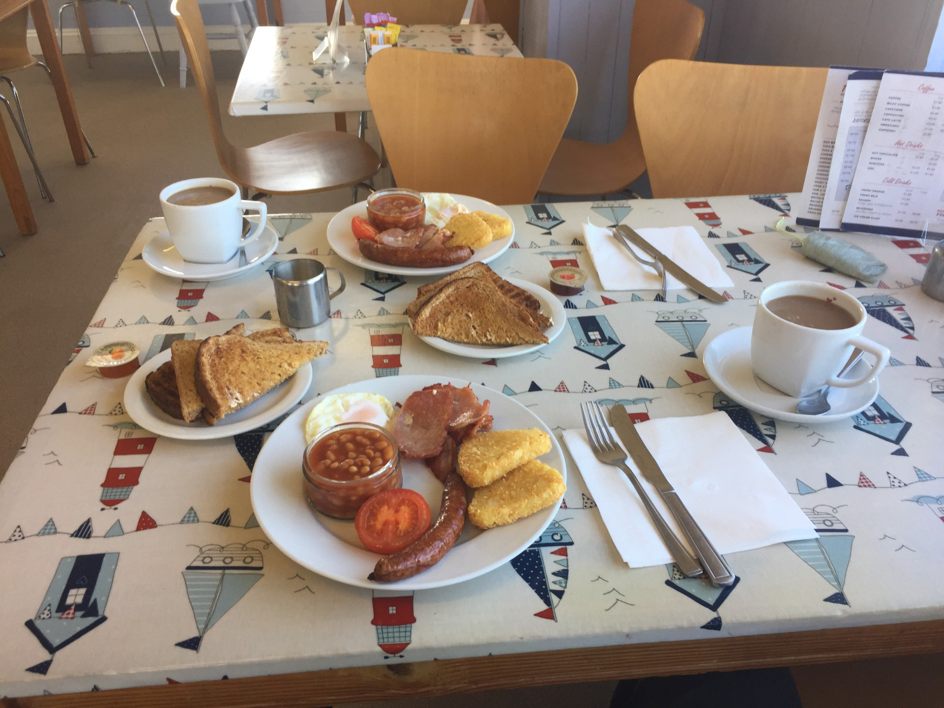 Big breakfast on Lake District guided hiking trips.