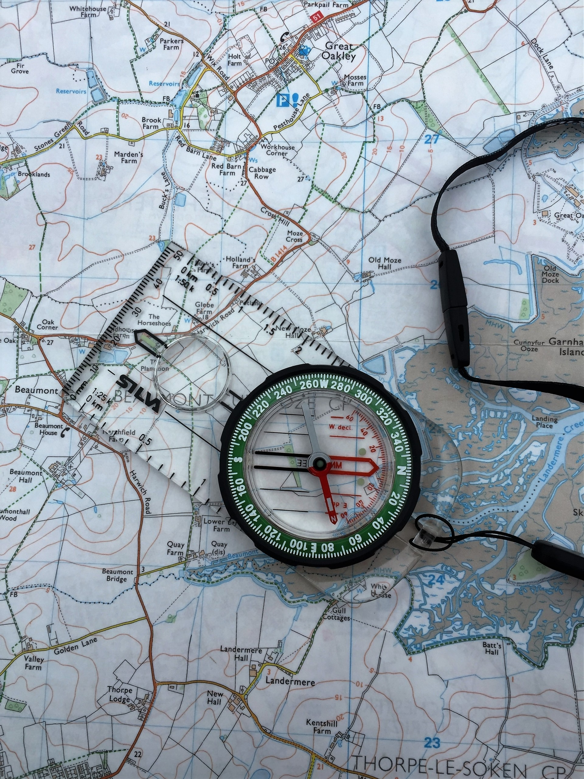 Keep it simple and stick to the basics when using a compass and map