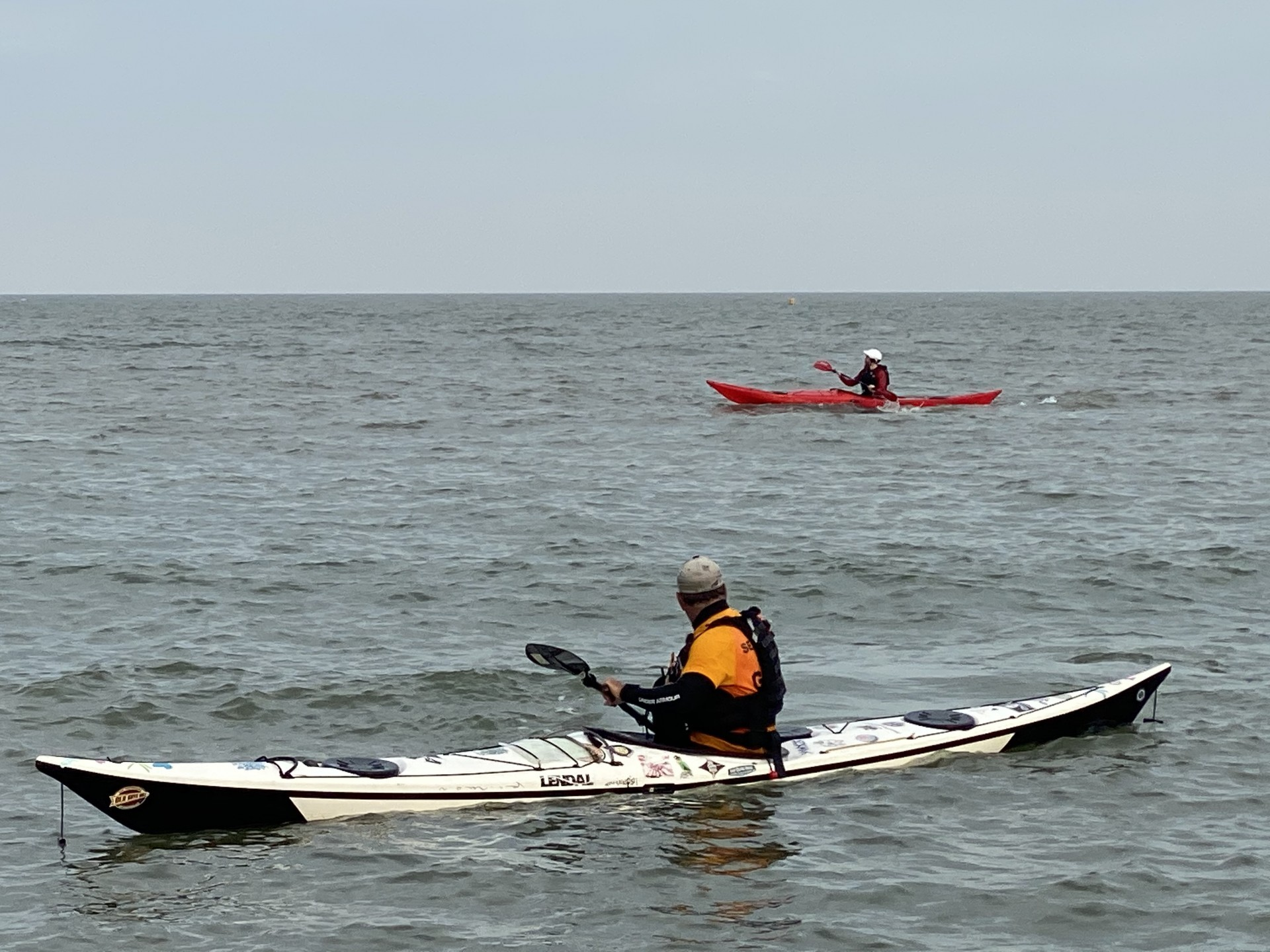NDK Explorer HV Expedition Sea Kayak and NDK RM Sport on the water