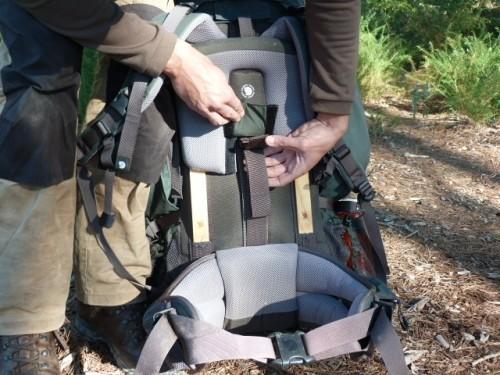 Fjallraven adjustable carrying system on rucksacks