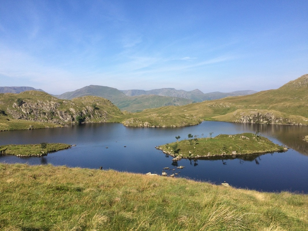 Angle Tarn above Patterdale Lake District hiking trips.