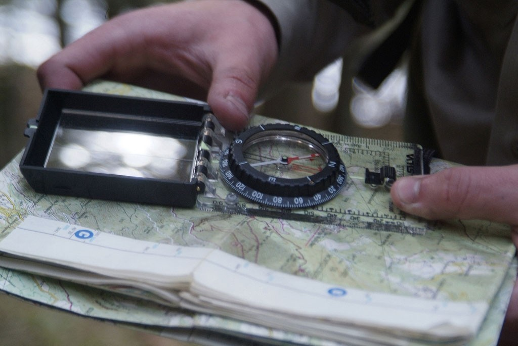 Fold your compass to cover your area of operations.