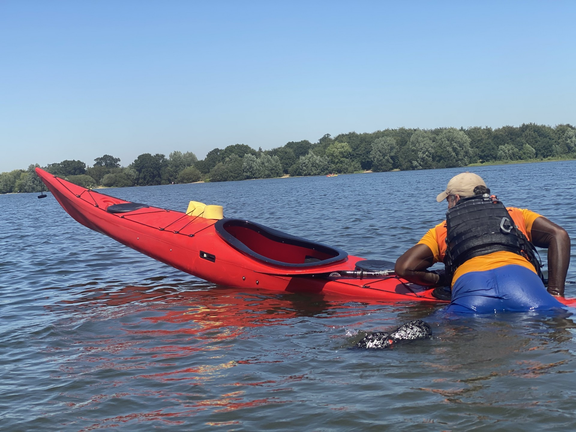 Self recovery on a NDK Sport RM sea kayak