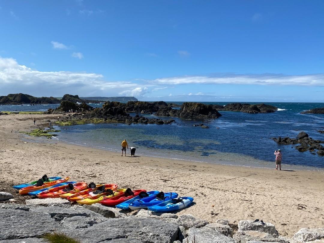 Sit-on-top kayak sea kayak guided coastal trip.