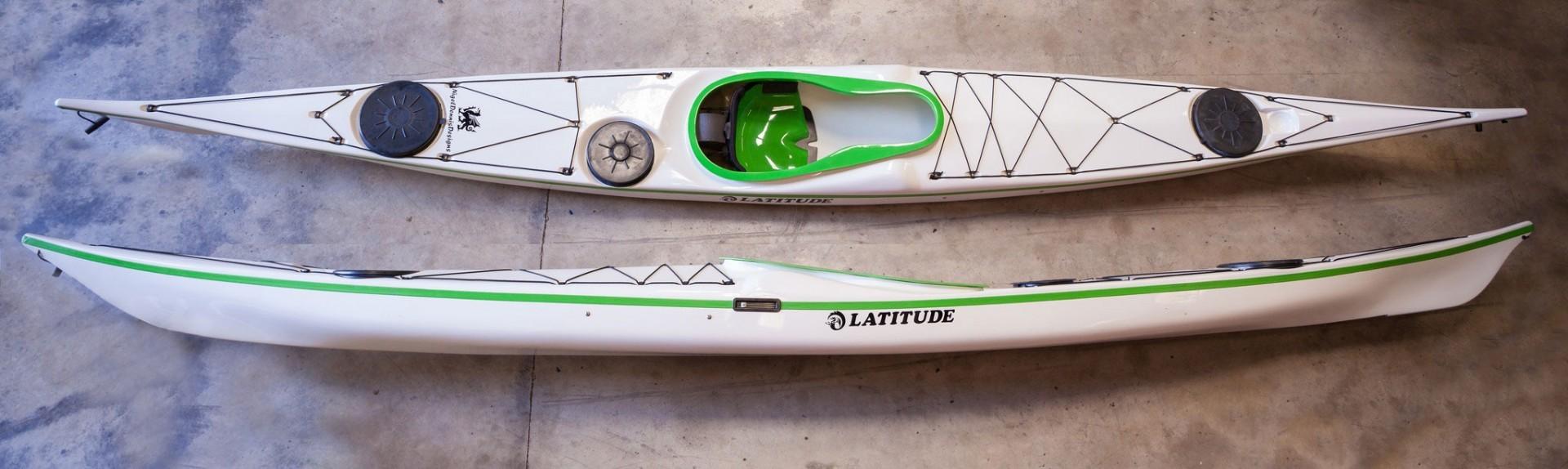 NDK Latitude Sea Kayak top and side views