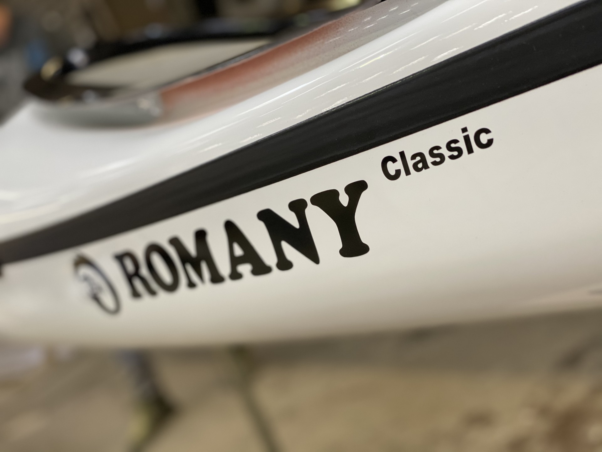 Romany Classic NDK composite sea kayak in white with black trim