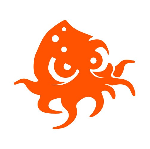 Image of the orange Baba Kraken motif used on NOMAD merchandise