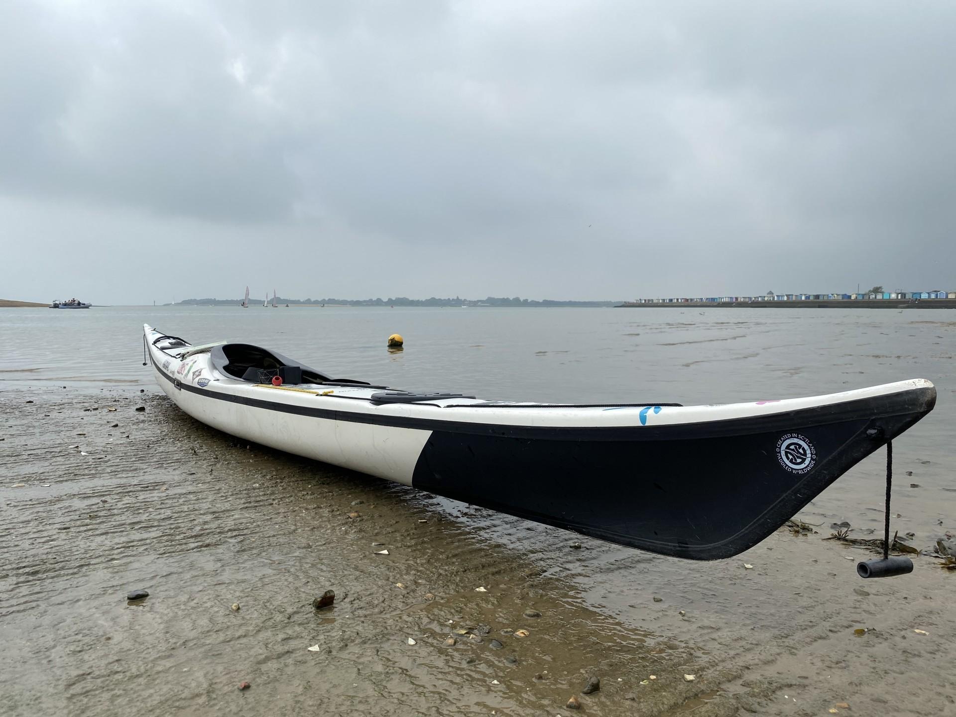 NDK Explorer HV Expedition Sea Kayak on a beach