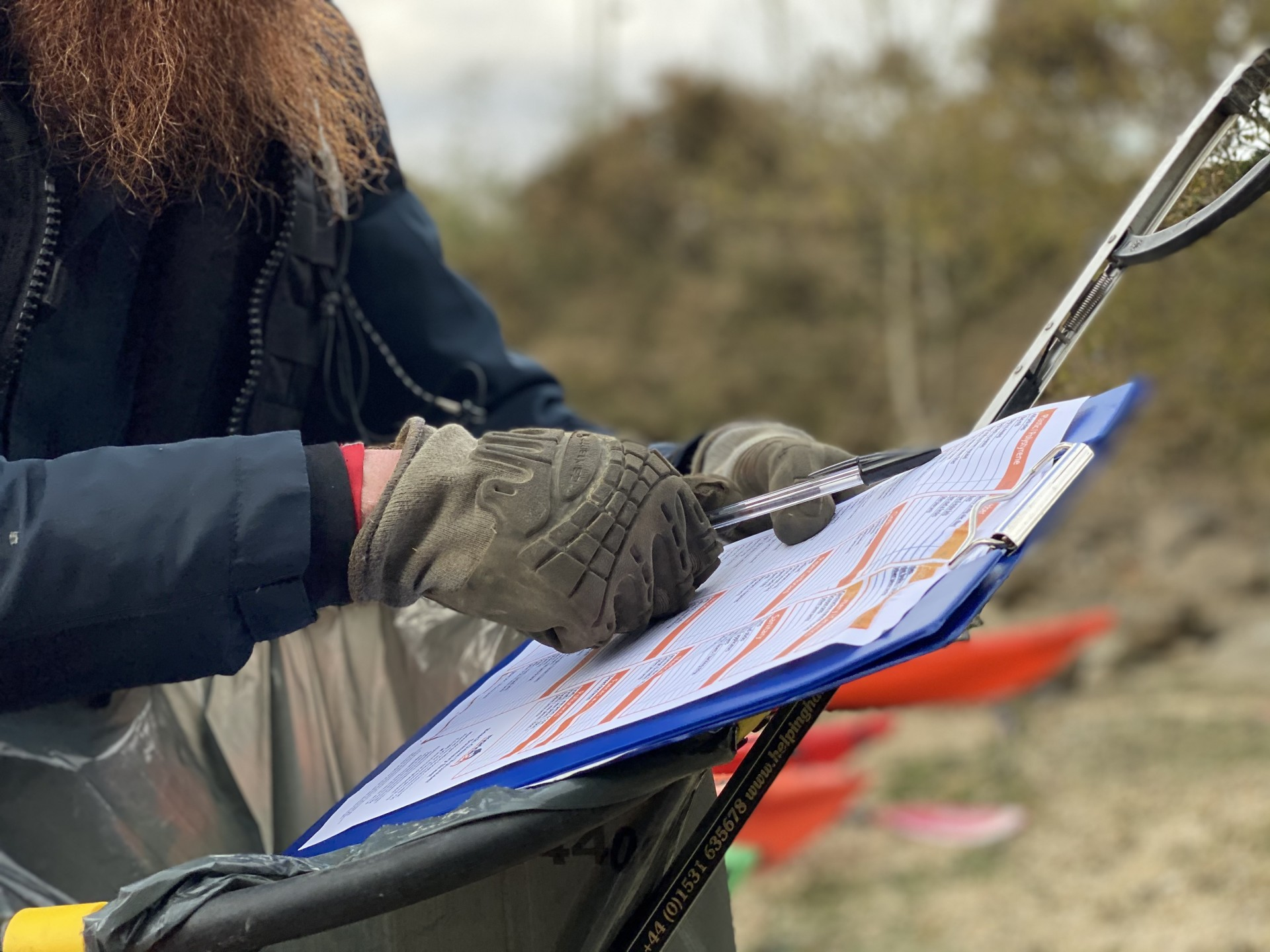 A sea kayak guide collating data for MCS records in Suffolk.